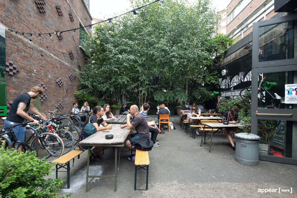 Outdoor Space - Cycling cafe, Old Street