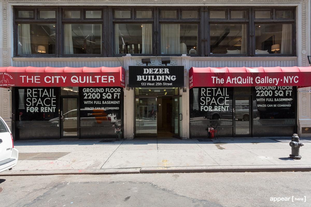 25th Street, Garment District - U-shaped Retail Space