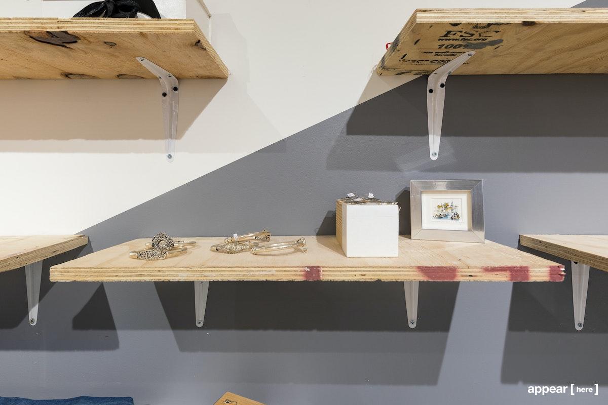 206 Brick Lane, Small Wooden Shelf, London