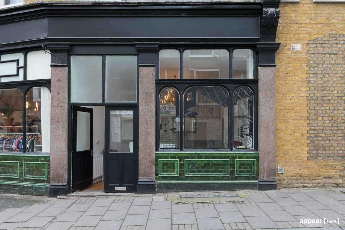 Hackney Road – Green-Tiled Corner Space