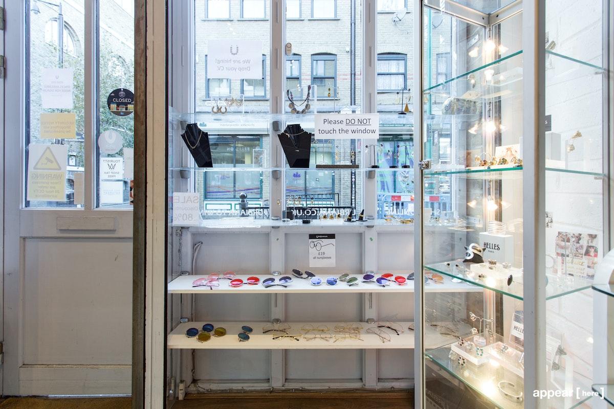 Urbiana, Brick Lane – Shelf Space, Front of Store