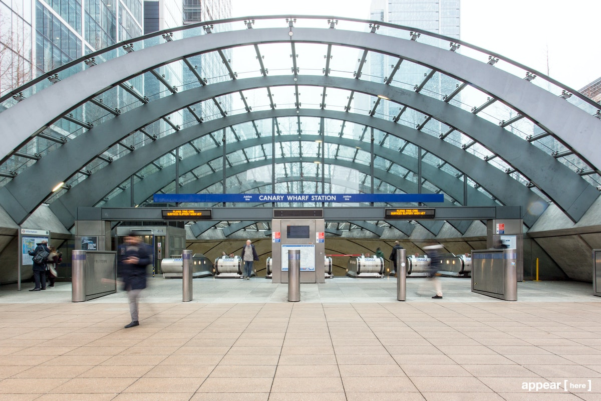 Canary Wharf Station Exterior