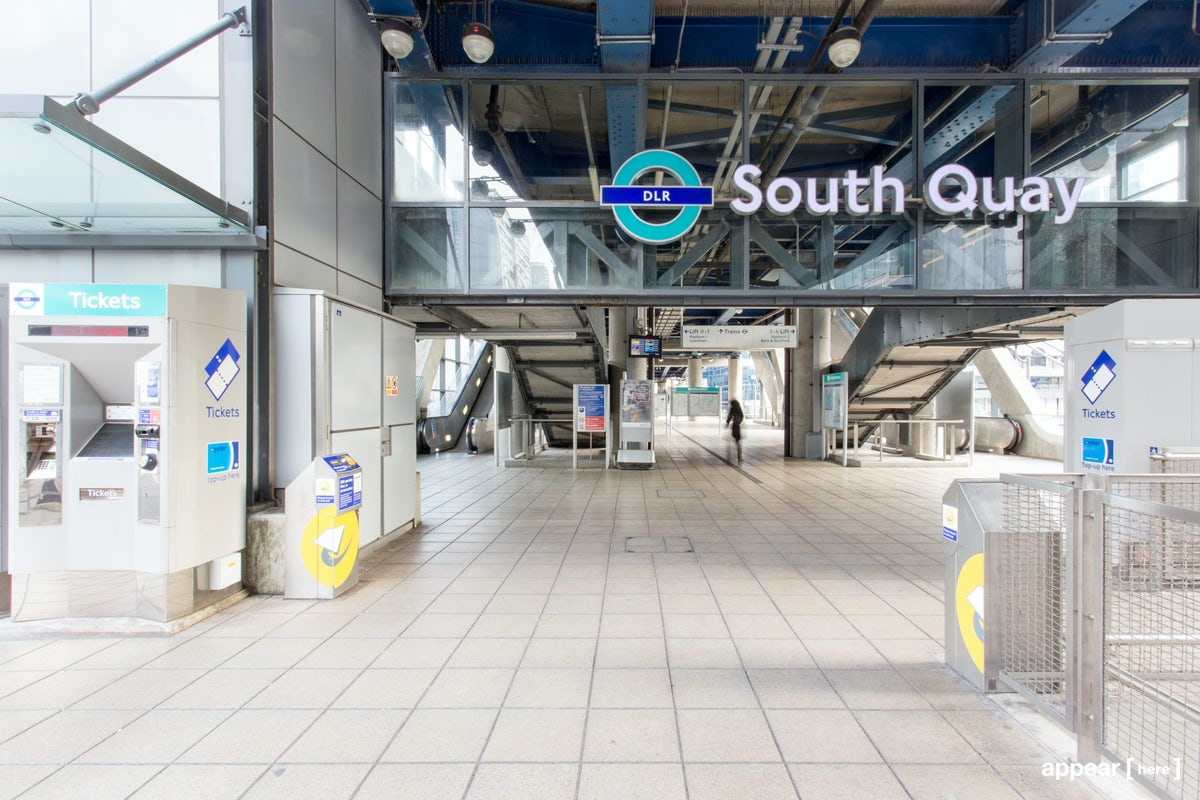 The Waterside Experiential Area - South Quay Station, London Docklands