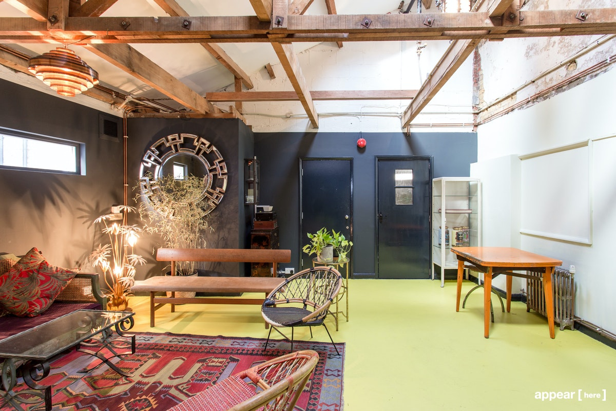 Green Room with Kitchen, Apiary Studios, 458 Hackney Rd, London
