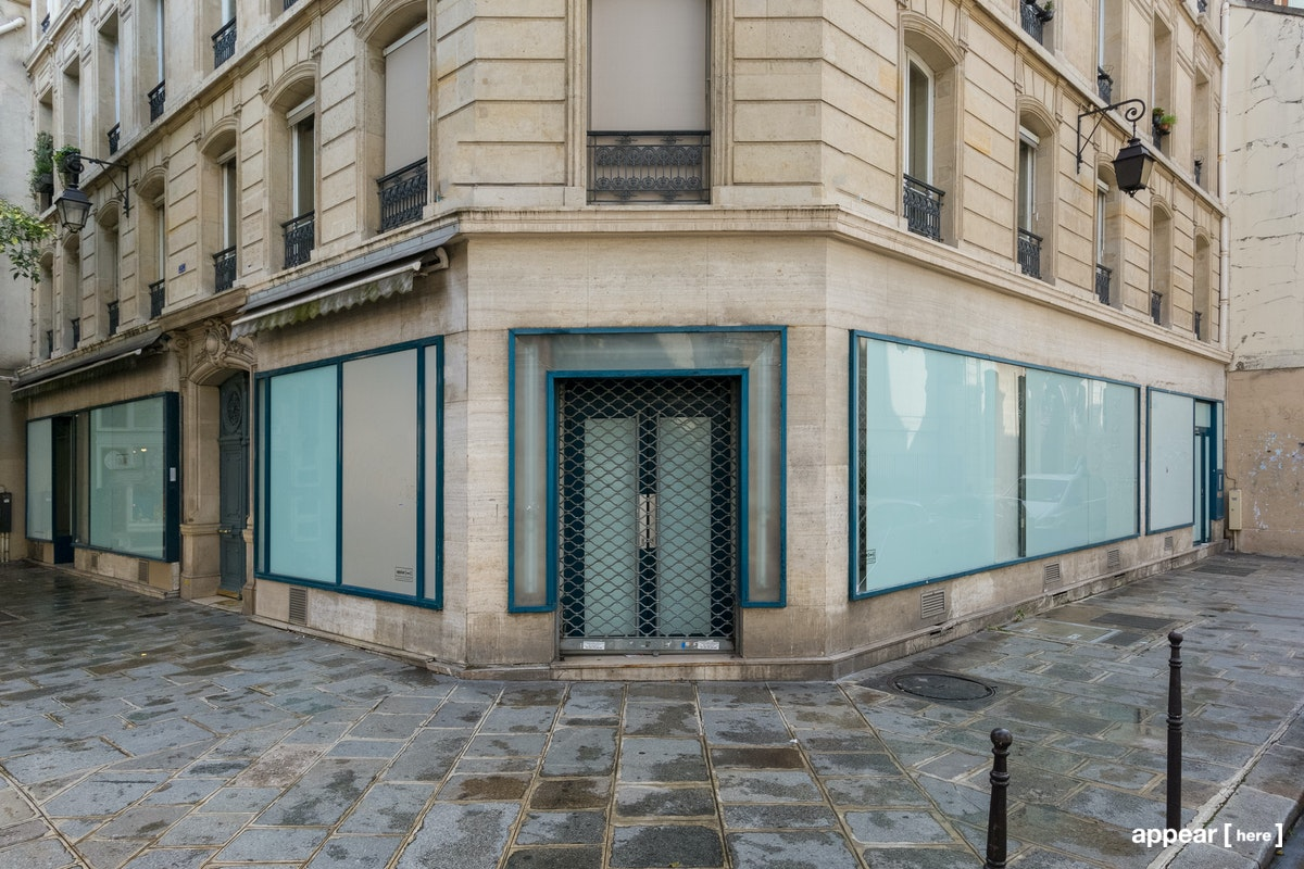 Grande boutique d'angle Philippe Auguste