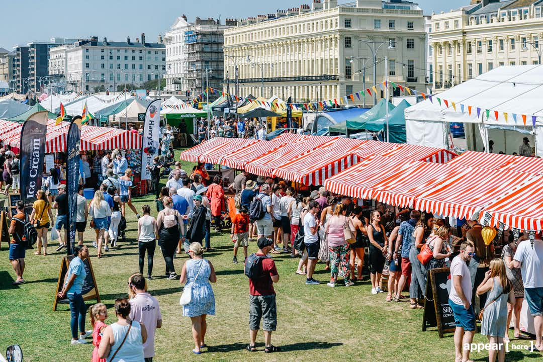 Market Stall, Summer Foodies Festival 2019, Brighton Hove Lawns , Brighton