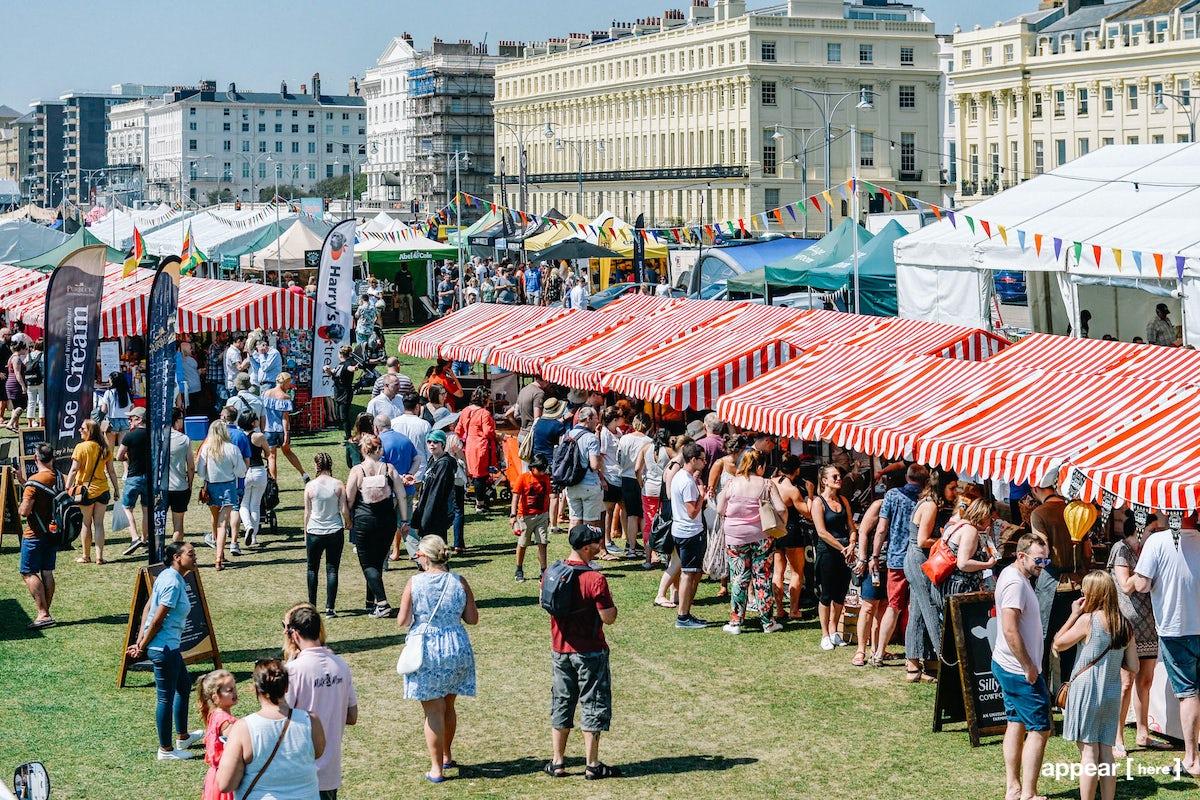 Market Stall, Summer Foodies Festival 2019, Brighton Hove Lawns , Brighton