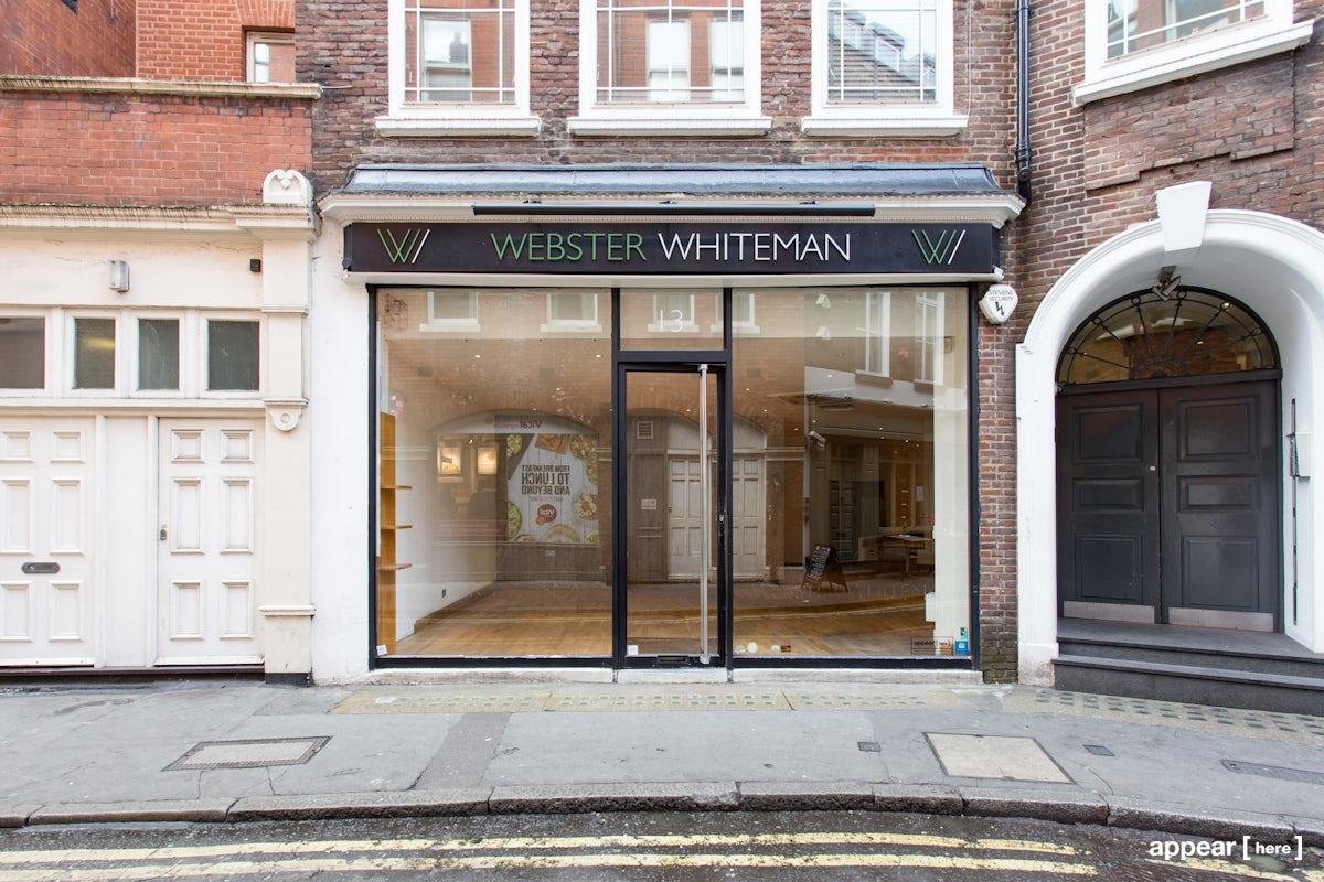 Pollen Street, Mayfair - Glass Fronted Shop