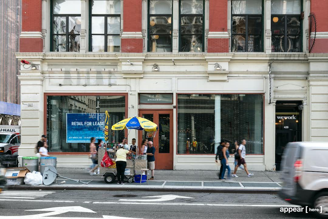 Broadway, Lower Manhattan - The Old WeWork Space